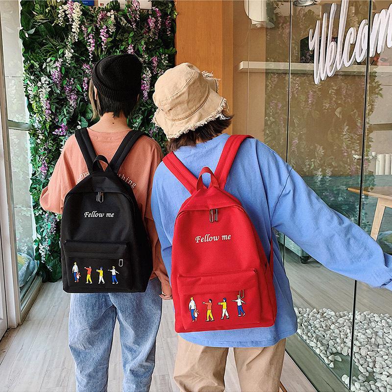 2020 новые дамы рюкзак Корейский моды случайные простой студент ткань Оксфорд большой емкости женщин рюкзак