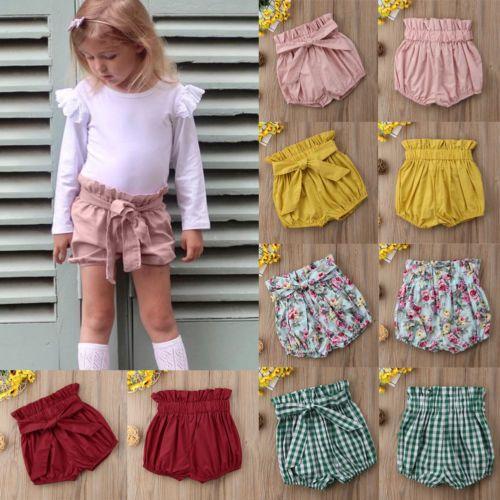 Cute Newborn Kid Baby Girl Panties Bottom Toddler Bowknot Tassel Bloomer Pants Shorts