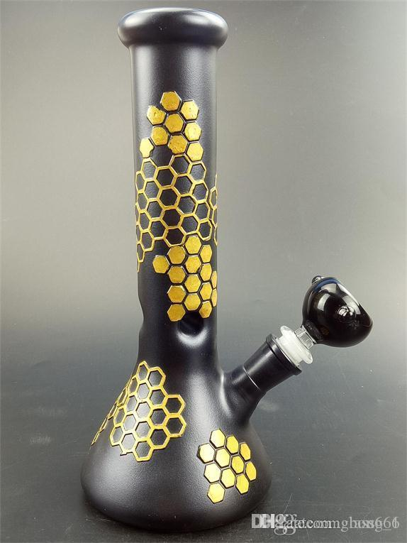 Chegada nova copo bongs bonger com cor especial 26 cm de altura com haste de vidro e tigela bonger copo base coador para hookahs fumar