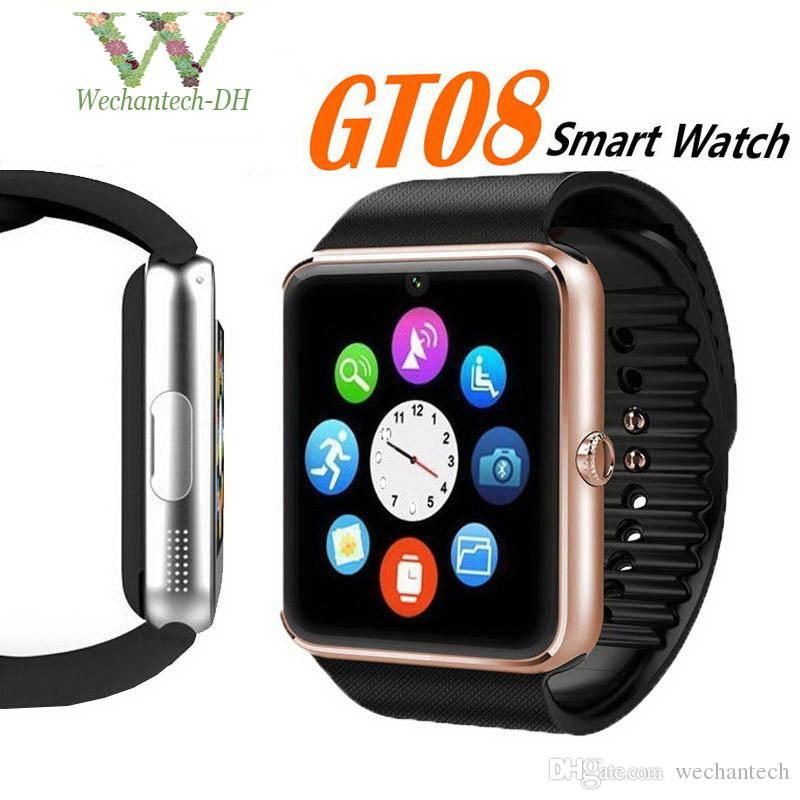 GT08 Bluetooth Smart Watch SIM Card Slot NFC Health Watchs for IOS Apple Android Smartphone Bracelet Smartwatch In retail package