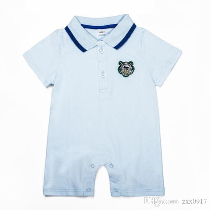 Retail New High Quality 100% Cotton Summer Cute Cartoon Baby Romper Baby Boys Girls Jumpsuit Short Sleeve Newborn Baby Clothing