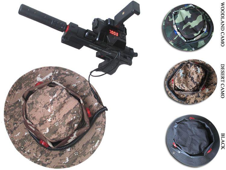 Étiquette laser 600FT avec chapeau + pistolet AR + pistolet balle de cristal d'eau, pistolet pistolet à eau souple