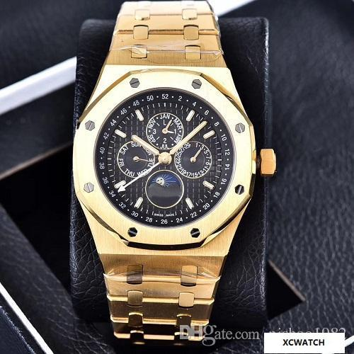 4fc4cfbd9d6 2017 Top Selling Luxury Royal Multifunction Watch Special Men Stainless  Steel Band Automatic Mechanical Men Mens