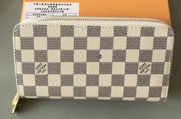 diseñador de moda bolsos de cuero con cremallera cartera de lujo de calidad billetera monedero largo con caja de Brown Carta flor vieja 60017 4M5C