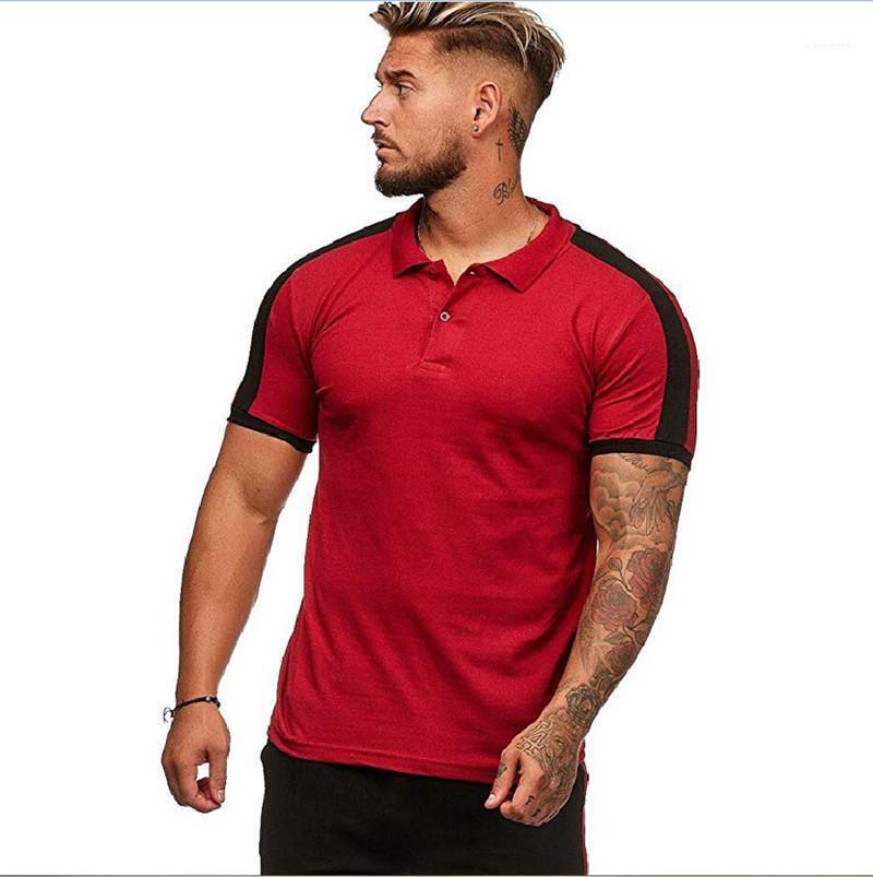Tees Sommermens Designer Polos Revers Ausschnitt Kurzarm Mode Herren-Oberteile Lässige Solid Color Männlich