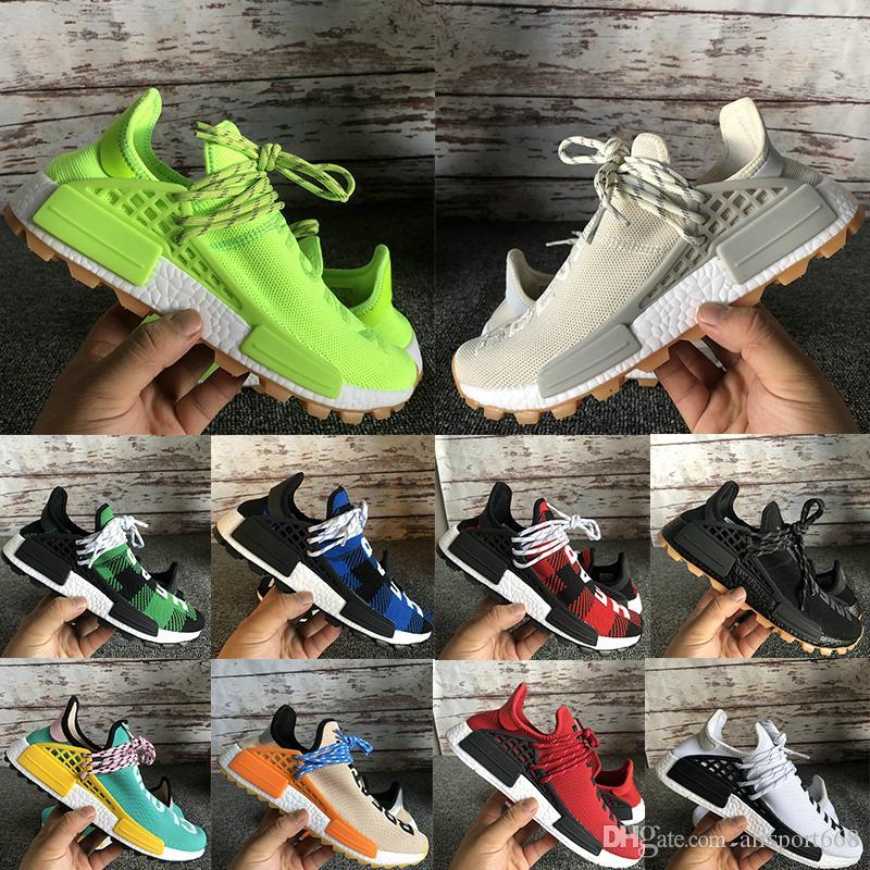 NMD Human Race знают дыхание души, хотя мужские кроссовки Pharrell Williams Hu Solar пакет многоцветный мужчин женщин спортивные rsneakers