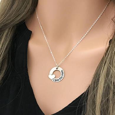 Ich liebe dich mehr Halskette romantisches Herz paar Kragen Vintage Silber Halsketten Anhänger Mädchen Frauen Schmuck Valentinstag Geschenk Souvenir