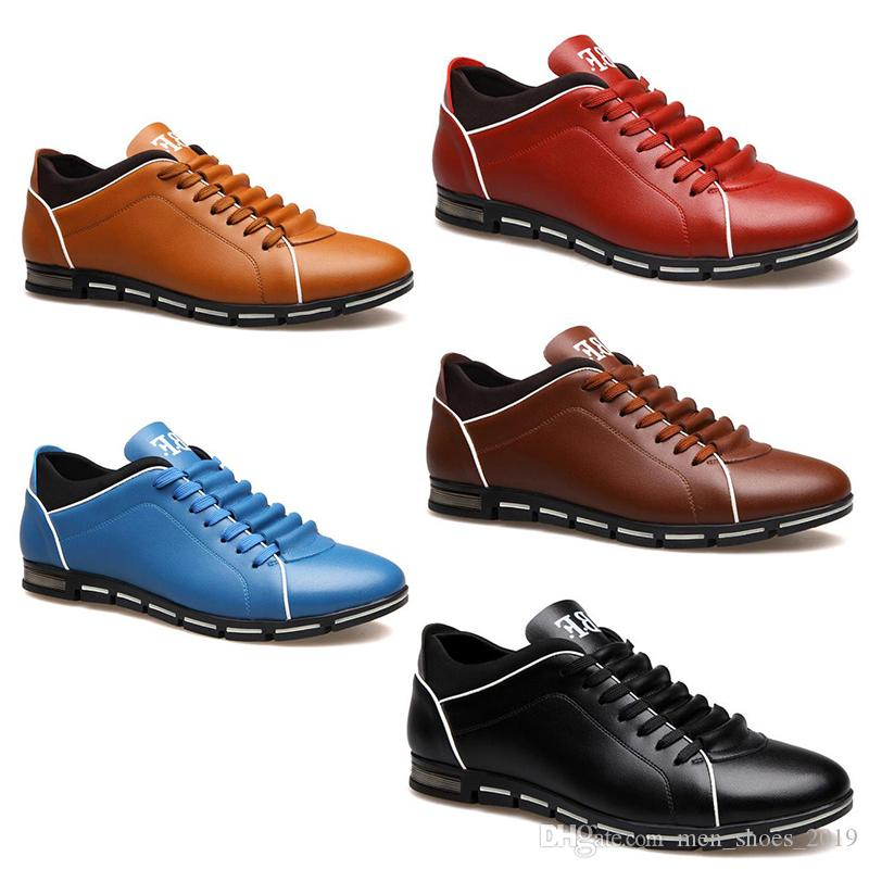 2020 hotsale Männer Schuhe schwarz Wein braun blau Mode rote Designer Freizeitschuhe freies Verschiffen Größe 39-44 # 127 Drop