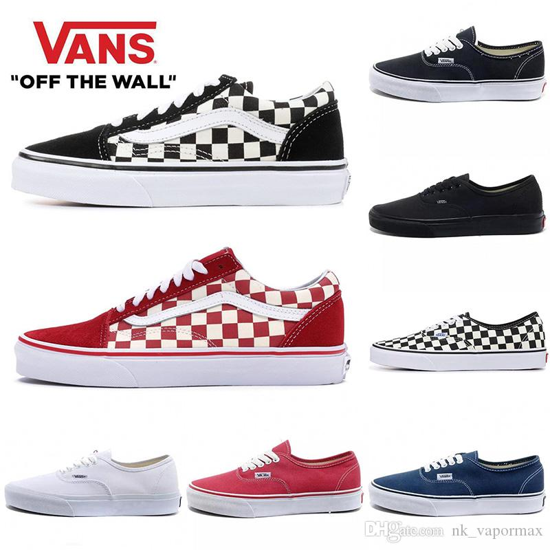 2020 Cheap Originals Van old skool black white FEAR OF GOD red buble canvas mens sport platform sneakers fashion casual shoes size 36-44
