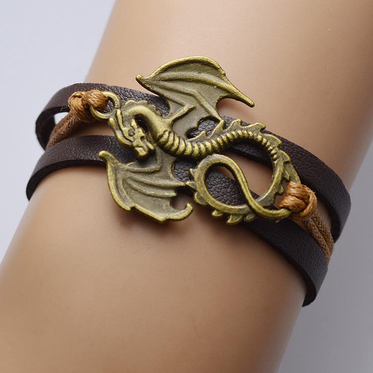Wholesale-anchor cross Charm Bracelet Infinity Bracelet Braided Bracelet leather wrap bracelets fashion jewelry jewlery hy553