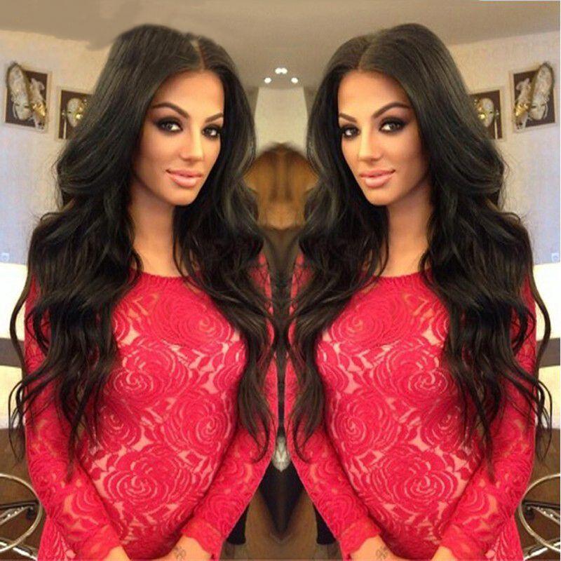 Lace Raw indiana capelli umani del Virgin anteriore parrucca onda del corpo pizzo anteriore parrucche Corpo indiano onda piena del merletto umani Parrucche
