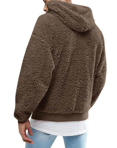 Peluş Fleece Kış Erkek Kapüşonlular Moda Erkek Katı Baskılı Casual Homme Kapşonlu Giyim Erkek Katı Renk Hoodies Tops