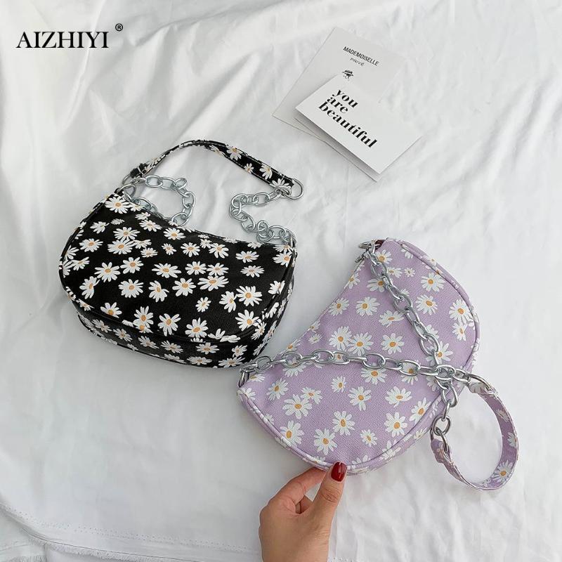 Простой PU Женщины подмышек Сумка Daisy кошелек Маленькая леди цветок сумки Мода Изысканный сумок