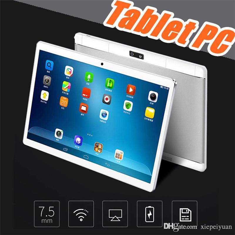 """10"""" inch MTK6580 Octa Core 1.5Ghz Android 7.0 3G Phone Call tablet pc GPS bluetooth Wifi Dual Camera 4GB 64GB keyboard cover Case G-10PB"""
