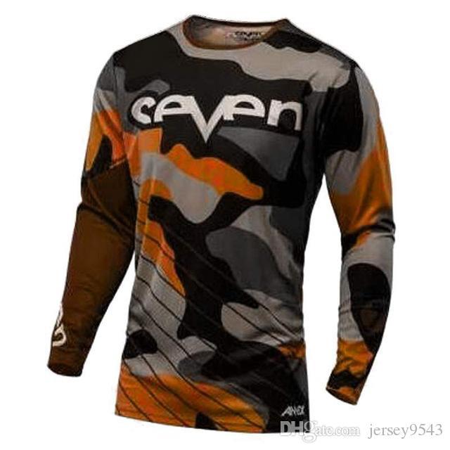 2019 Seven motocross maglia downhill camiseta ropa mtb manica lunga Moto Jersey mountain bike dh shirt mx abbigliamento moto