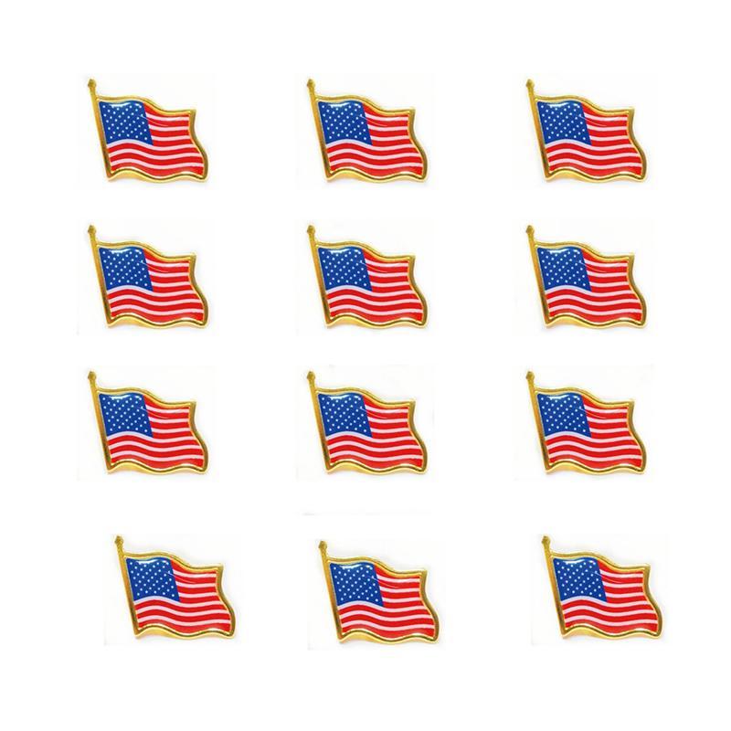 Die Flagge der Vereinigten Staaten Abzeichen Kragen Pin Kleidung Krawatte Hut Rucksack Pin Jacke Zubehör Feiertags-Party-Geschenk
