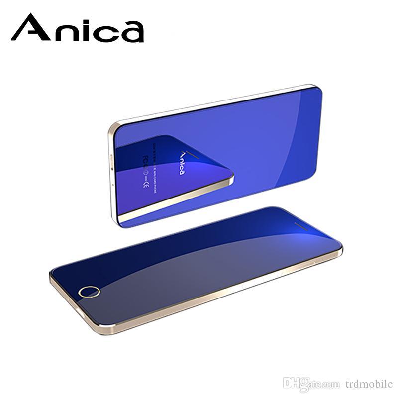 "AnicaT9 cheap cute Mobile Phones unlocked, 1.54"" bezel-less quad Core Quad Bands dual SIM GSM Phones with Touch Keys for Girls Women"