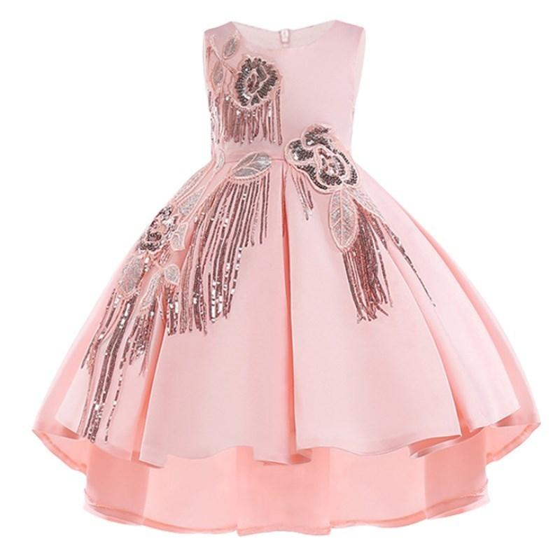 Forro de algodão Do Bebê Meninas Vestido Para Meninas Vestidos de Festa de Casamento Crianças Princesa Vestido de Verão Crianças Meninas Roupas Idade 2-10 T Y190515