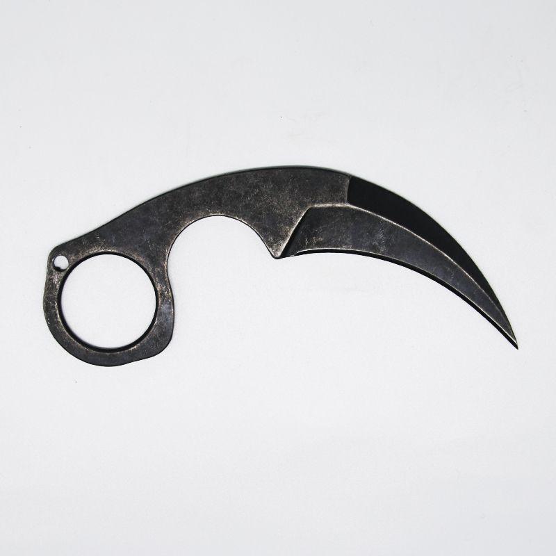 Nueva llegada garra krambit Cuchillos tácticos 440C Stone Wash Hoja enteriza de acero Mango fijo de la lámina de papel cortador de cuchillo