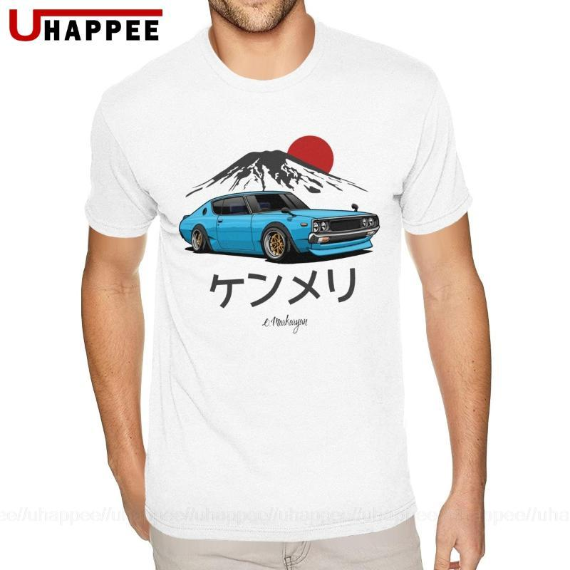 Oversize Blu Japan Car JDM magliette disegno semplice di manica corta girocollo estate T-shirt Men 1980 Merch