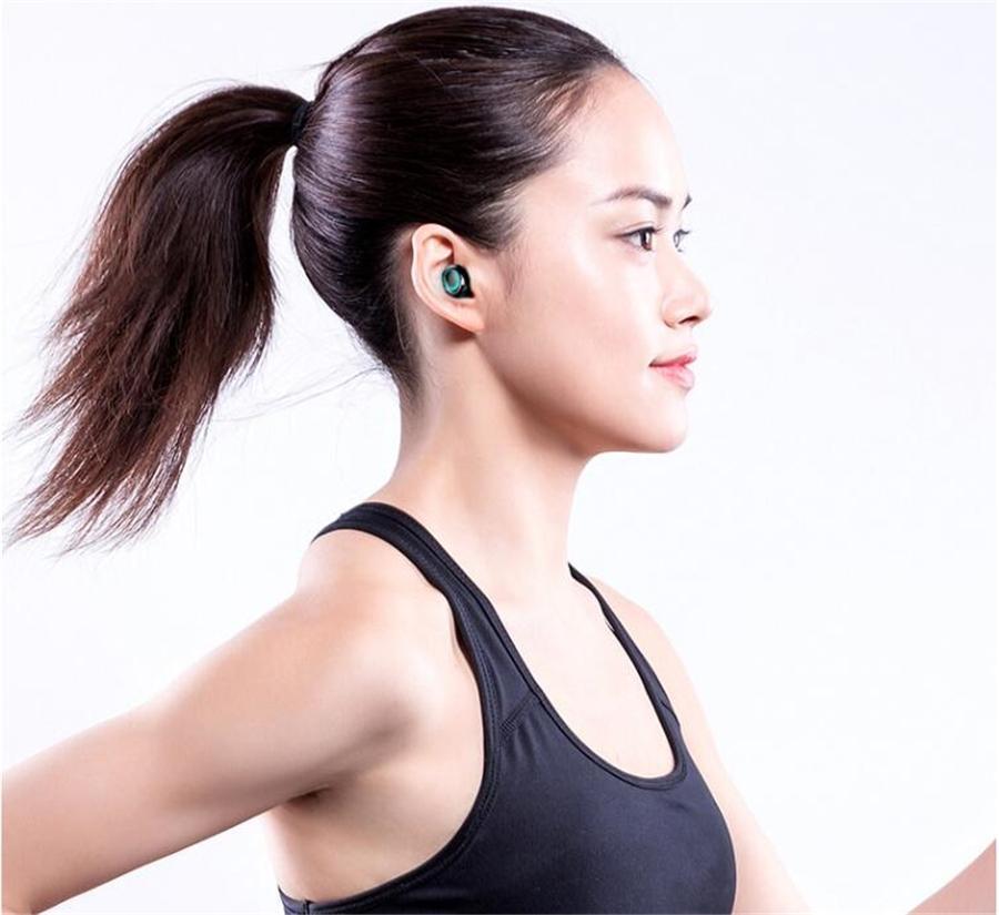 F9-10 tws Kablosuz Bluetooth 5.0 Kulaklık Görünmez Kulaklık Stereo İzle Led Gürültü Önleyici Gaming Headset ile 3 Led Güç Gösterge # OU251