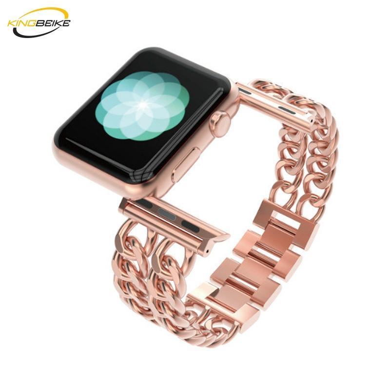 5 가지 색상 Apple 시계 용 스테인레스 스틸 시계 밴드 1/2/3/4 시리즈 iWatch 38mm / 42mm / 40mm / 44mm 밴드 교체 용 손목 시계 스트랩