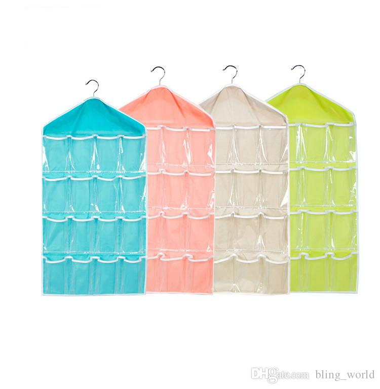 Pockets Hanging Bag fold Clear Over Door Shoes Rack Hanger Storage Tidy Organizer Home tranaparent closet storage pouch 80*40cm YSY249