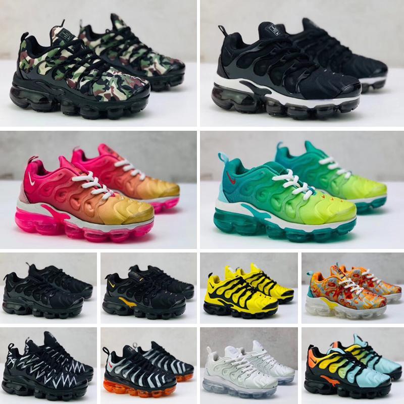 Nike Air Max Tn plus 2019 bambini TN più le scarpe pattini correnti di sport dei bambini delle ragazze del ragazzo formatori Tn Sneakers Classic Outdoor pattini del bambino 24-35