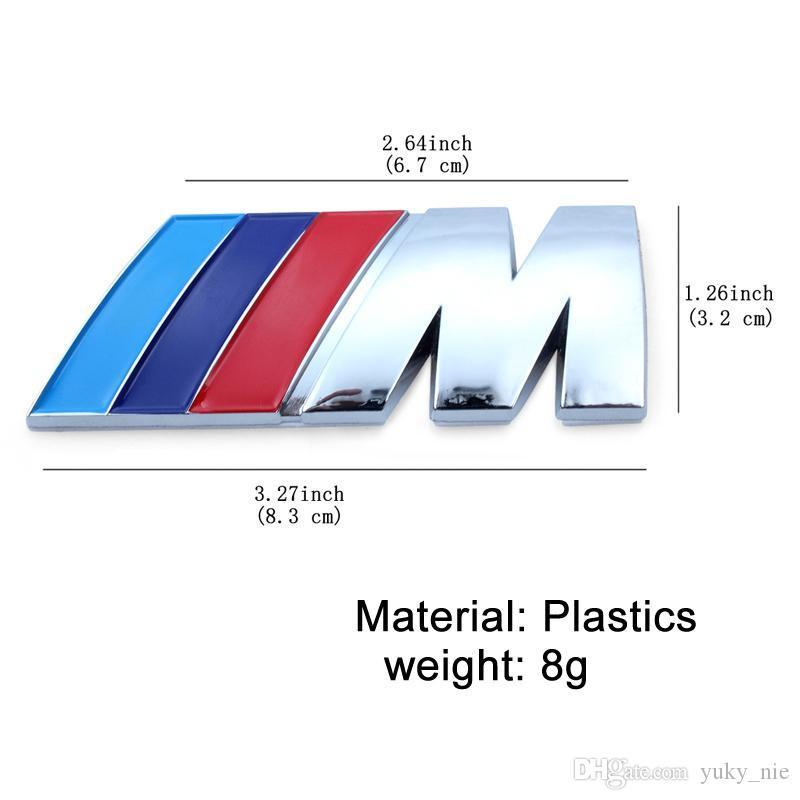 8,3 centímetros * 3,2 centímetros BMW M3 M5 M esporte Power Metal M marca logotipo do emblema do tronco cauda traseira Fender Emblem Sticker Decal