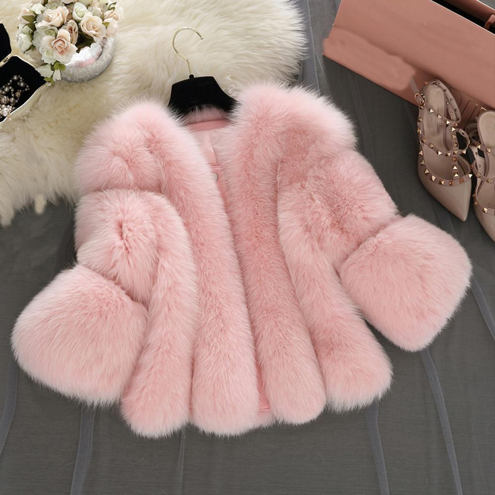 Brasão Mulheres Furry falso casaco de pele Casacos de pele curto costura Faux Teddy Coats Fleece casacos de inverno mulheres Oversize Casacos NOVO