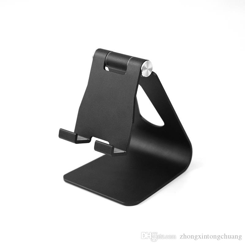 Adjustable angle aluminum alloy metal phone tablet stand desktop stand for iPhone XR XS MAX X 8 7 Plus Samsung S9 S8 plus Huawei RetailBOX