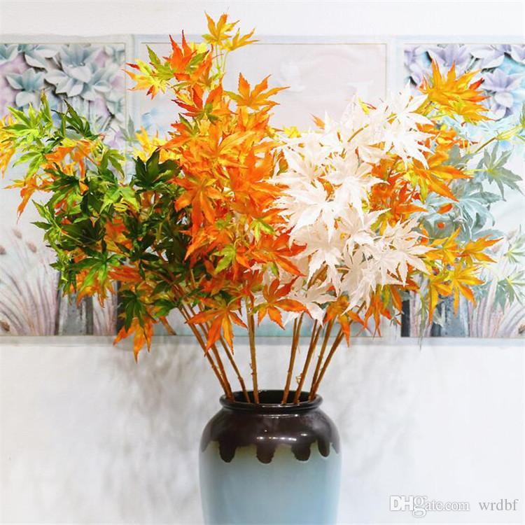 """가짜 긴 줄기 메이플 (3 줄기 / 조각) 36.22 """"길이 시뮬레이션 홈 메이드 트리 리프 식물 결혼식 홈 장식 인공 식물"""