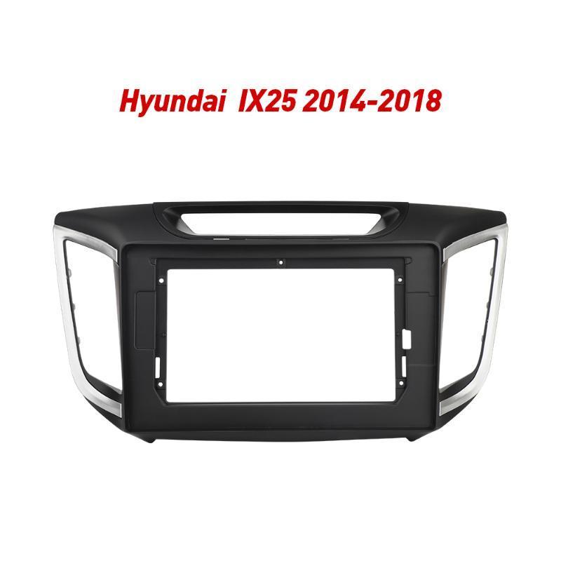 2Din Car Radio Fascia Frame Fit for IX25 2014-2018 Android GPS Panel Dash Frame Kit car dvd