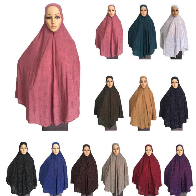 2020 Women Muslim Prayer Dress Long Scarf Khimar Hijab Islamic Large Overhead Clothes Prayer Garment Hat Niquabs Printed Amira Hijabs From Silan 16 24 Dhgate Com