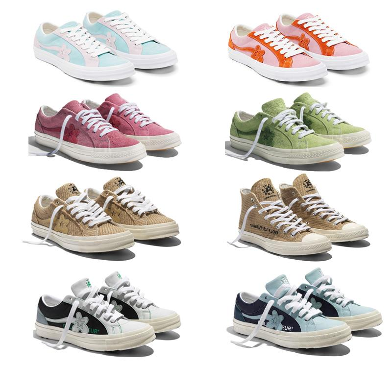 2019 Tyler, The Creator x One Star Ox Golf Le Fleur Stilista di moda scarpe da tennis TTC scarpe casual per Skateboarding Sport scarpe per donne degli uomini c6