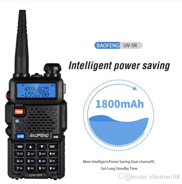 BAOFENG UV5R UV5R يتحملها ثنائي الموجات 136-174Mhz 400-520Mhz اتجاهين راديو الإرسال والاستقبال مع بطارية 1800mAh سماعة مجانية (BF-UV5R) DHL
