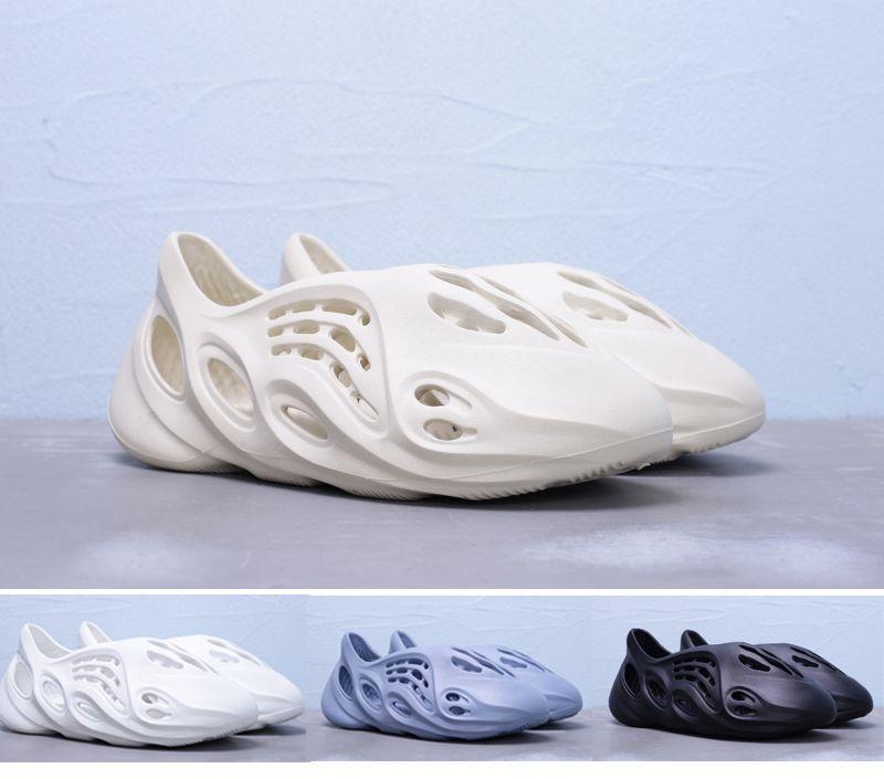 여름 카니 예 웨스트 홀 거품 주자 슬라이드 뼈 사막 모래 남성 여성 슬리퍼 해변 실내 샌들 신발
