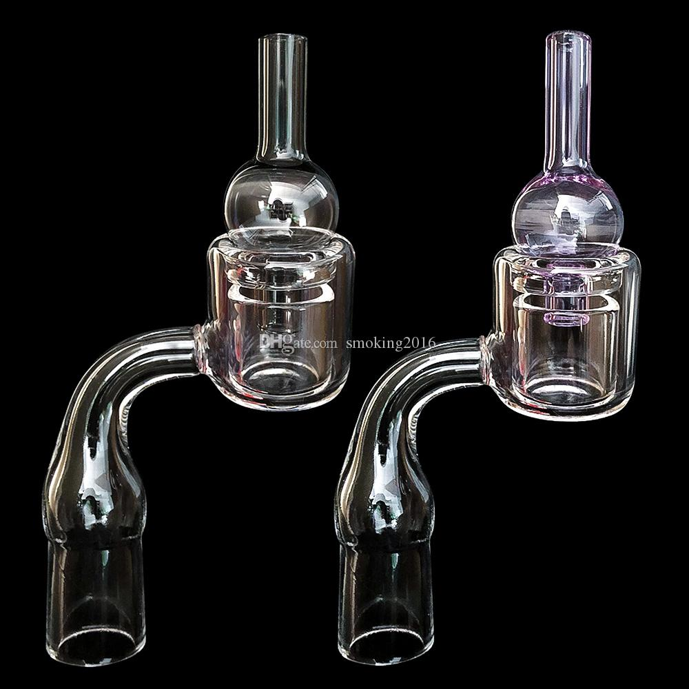New Design XXL Quartz Thermal Banger with carb cap 10mm 14mm 18mm Double Tube Quartz Thermal Banger Nail For Glass Water Pipes