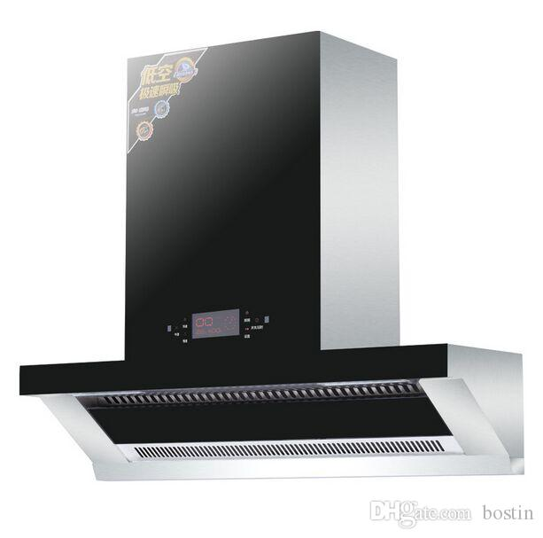 Кухонная вытяжка из нержавеющей стали с боковым всасыванием Тип вытяжки Бытовой сенсорный элемент управления Дымовая вытяжка CXW-228