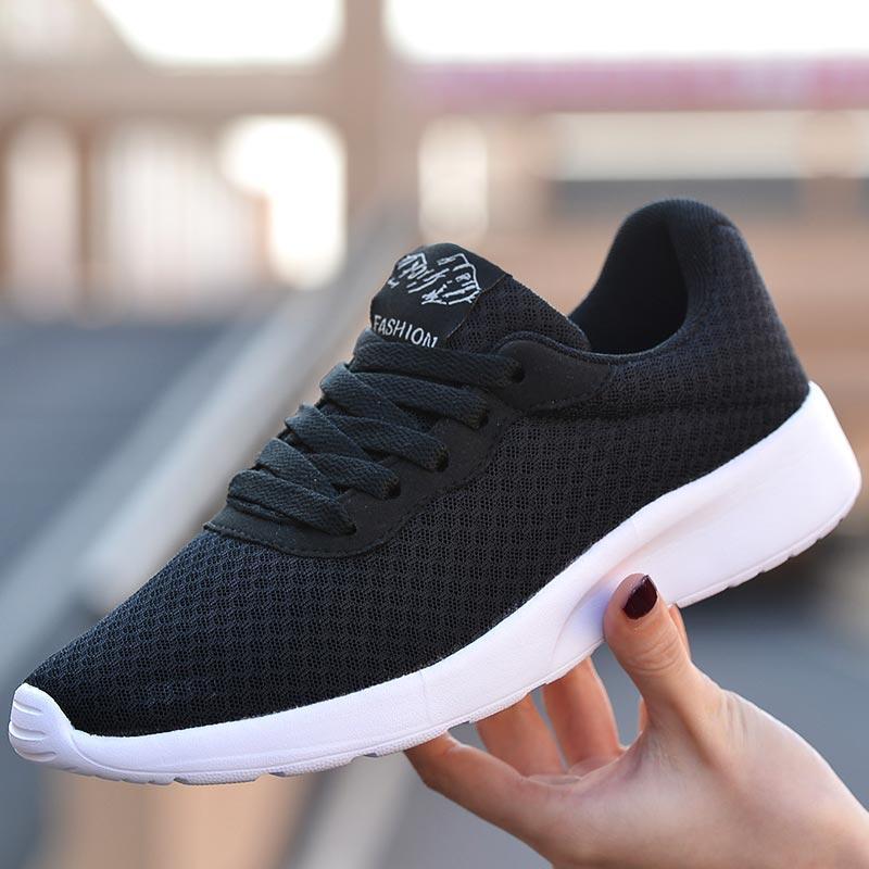 Mesh Funzionamento della donna Scarpe da donna sportive Allenamento Sport scarpe da ginnastica nere Tennis Estate Calzature Fitness Trainer carrello A554
