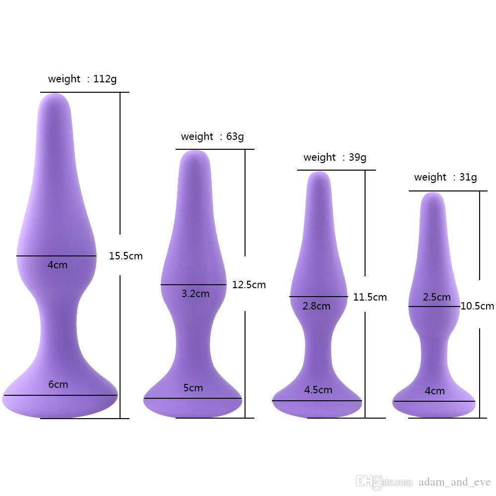 Für Silikonfrauen Massage Butt Stecker Prostata Masturbation Sex Plug Toys 4 teile / satz Anal Weibliche Anal Kkwgl