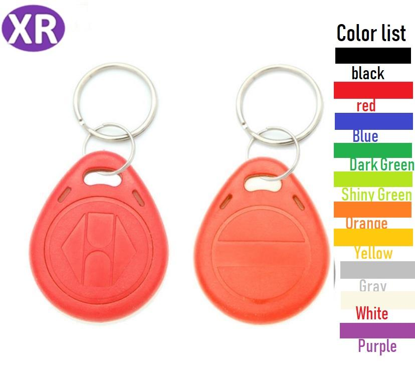 100pcs ID RFID keyfob TK4100 Remote Control Identification Card Door System Entry Access Tag Badge token lock 125KHZ Proximity Tag Red