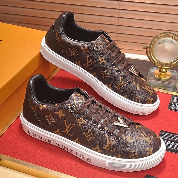 2019 Hommes Chaussures Casual Chaussures De Mode Respirant Footwears Homme avec Boîte d'origine Hommes Chaussures Grande Taille Casual Cuir Grand Taille Drop Ship