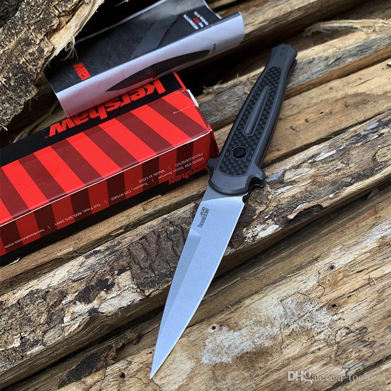 Nova Kershaw 7150 Faca Tática Automática CPM154 Lâmina de aviação de liga de alumínio + fibra de carbono Ao Ar Livre Caça Camping ferramentas de Sobrevivência