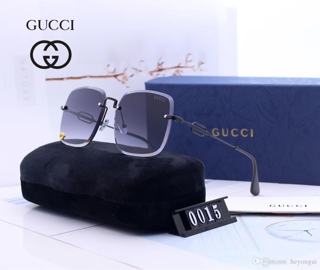 Model: G00015 2019 new erkek ve kadın marka gözlük erkekler ve kadınlar hd reçine lensler ile yüksek çözünürlüklü geniş çerçeve güneş gözlüğü sürücü