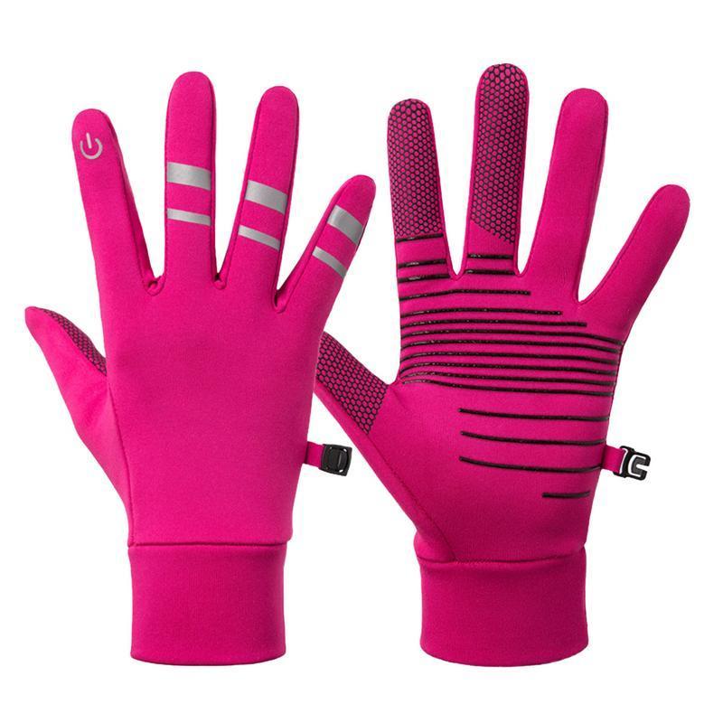 Invierno Touch Guantes de pantalla Keep Warm guantes hombres y de mujeres remiendo de la manera deportes al aire libre a prueba de viento de la resbalón