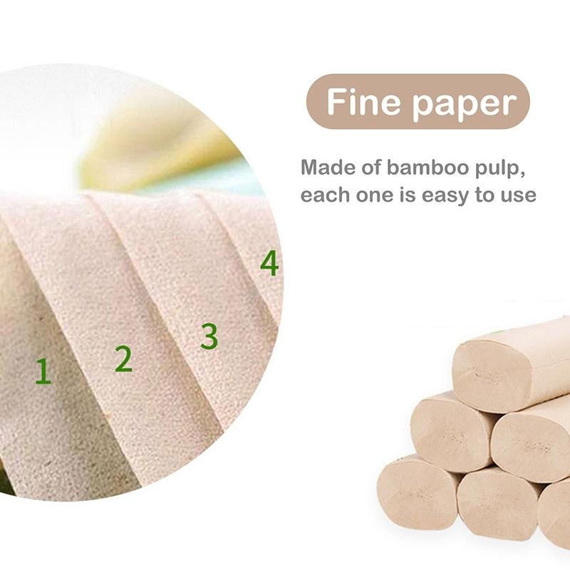 2020 Dropshipping 6 Roll/Pack Kitchen Cleaning Paper Bathroom Toilet Roll WC Thick One Time Paper Towels
