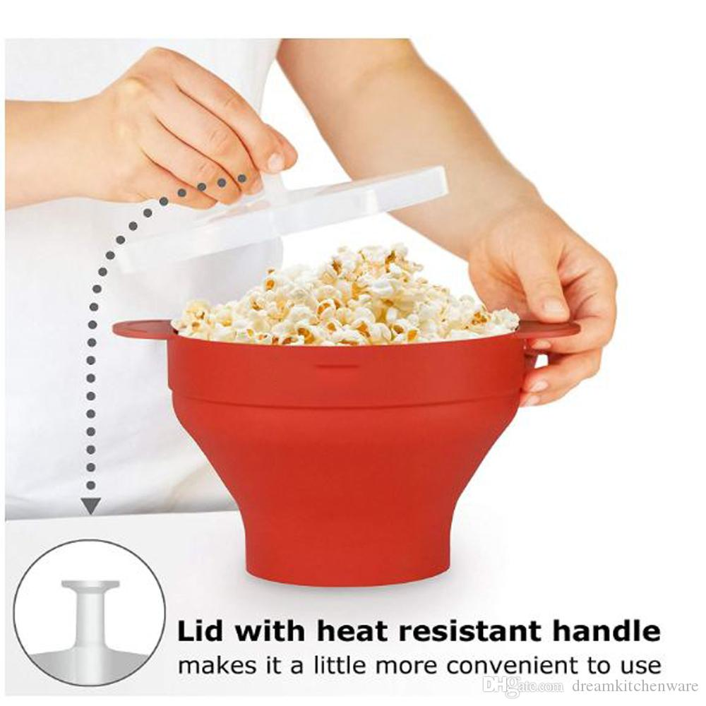 New Popcorn Silicone Folding Bowl Snack Box Popcorn Microwave Container  Healthy Snack Household Popcorn Bucket UK 2019 From Dreamkitchenware, UK