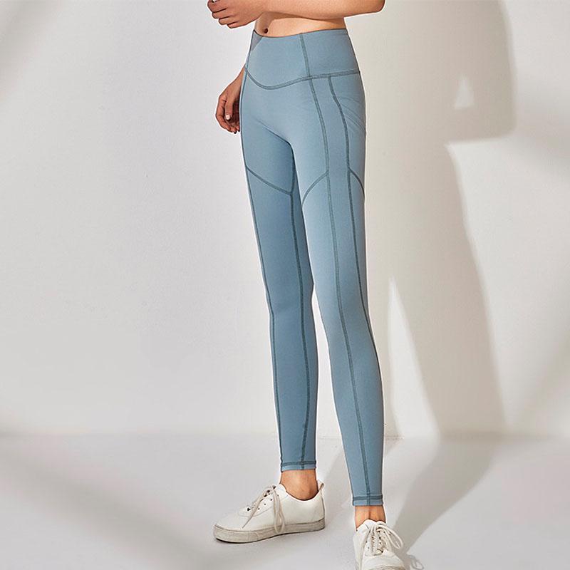 New Sport Yoga Pants with Pockets Women High Waist Push Up Hip Legging Sport Femme Leggings Women Fitness Running Leggings