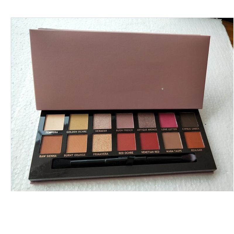 Top quality! Makeup Pink Eye Shadow Palette 14 Colors Limited Eyeshadow Kit With Brush Free Shipping.